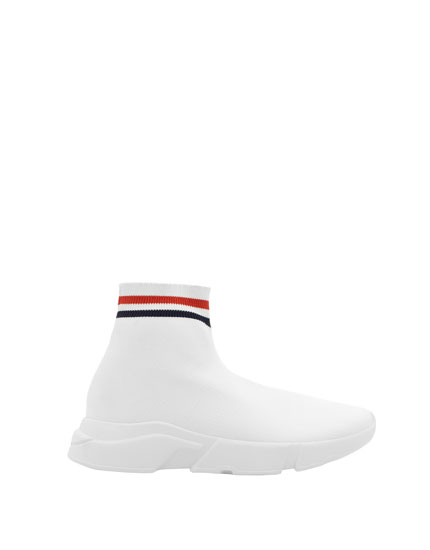 Sock-style sneakers with detail