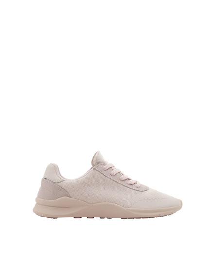 Mauve monochrome jogging shoes