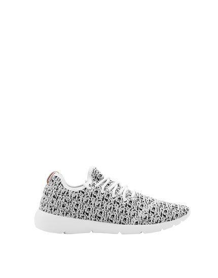 Mesh sock-style jogging shoes
