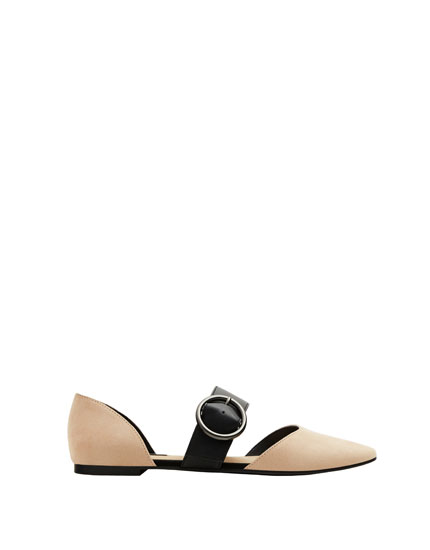 D'Orsay ballerinas with strap