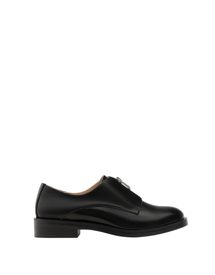 Zipped derby shoes
