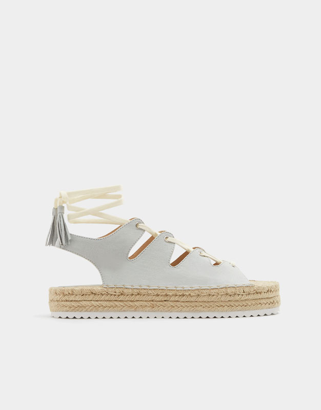 Tied Jute Sandals by Pull & Bear