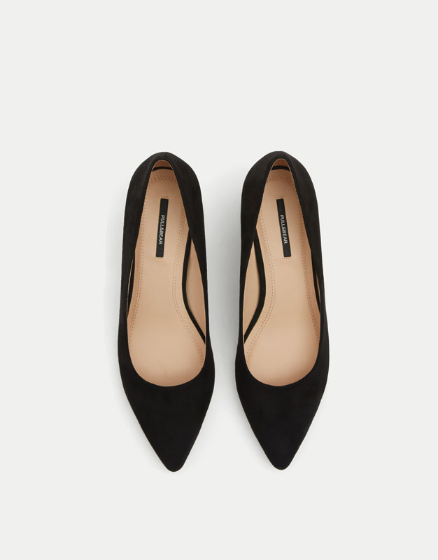 Scarpa nera tacco medio