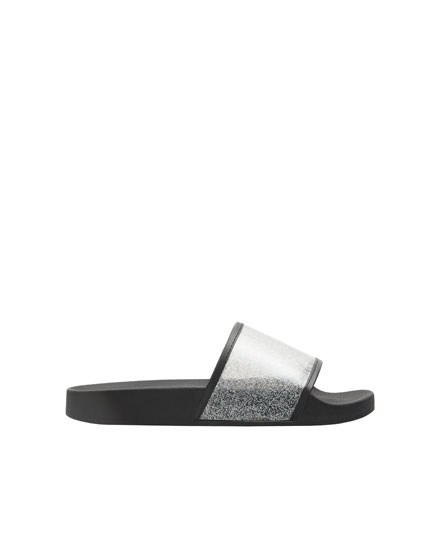 Vinyl slide sandals