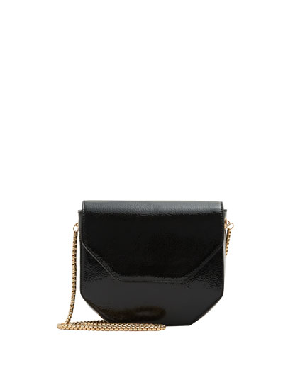 Mini party crossbody bag with patent finish