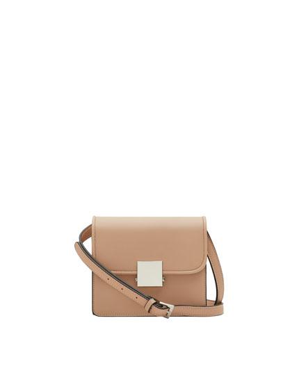 Mini crossbody bag with metal clasp