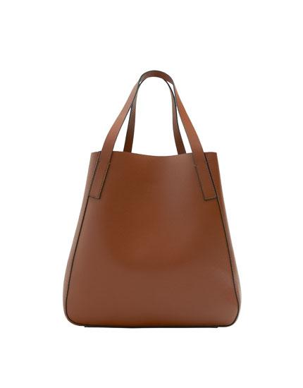 Basic brown tote bag