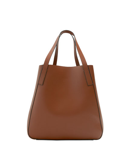 Basic brown tote bag