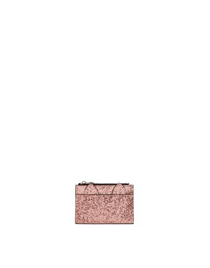 Pink glitter cat purse