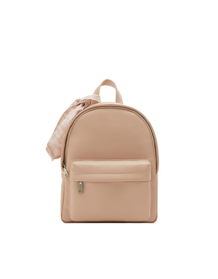 Pink urban backpack with detail