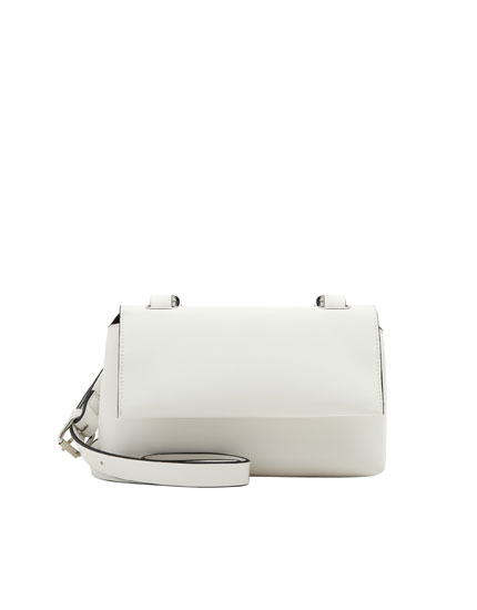 White urban crossbody bag