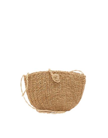 Mini straw crossbody bag