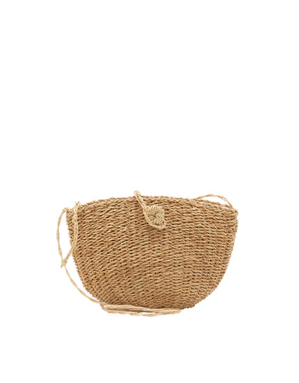 Mini straw crossbody bag