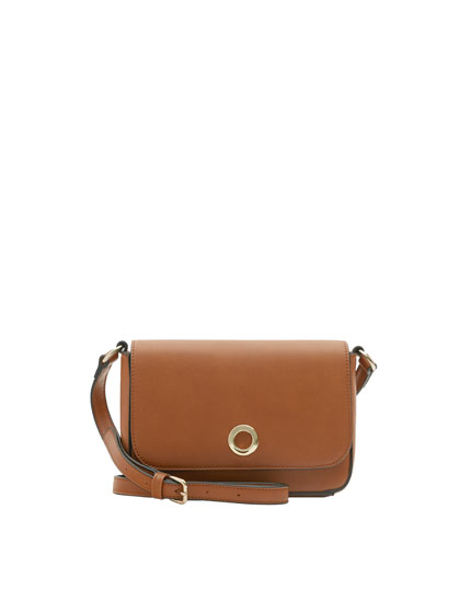 Mini crossbody bag with round clasp