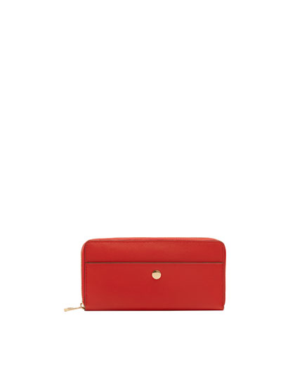 Red wallet with metallic detail