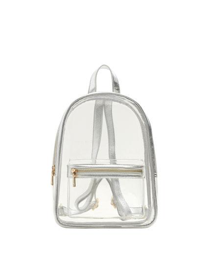 Mini vinyl backpack