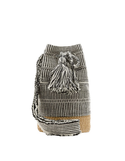 Bucket bag with embellished detail