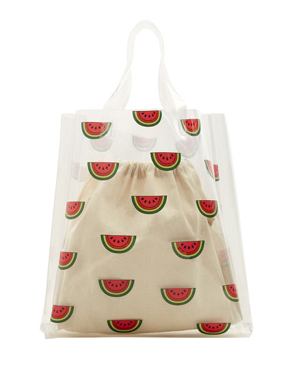 Vinyl watermelon bag