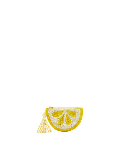 Geldbeutel in Zitronenform