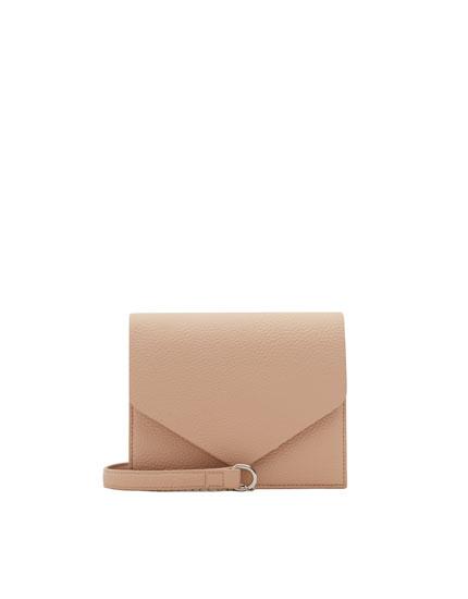 Basic nude crossbody bag