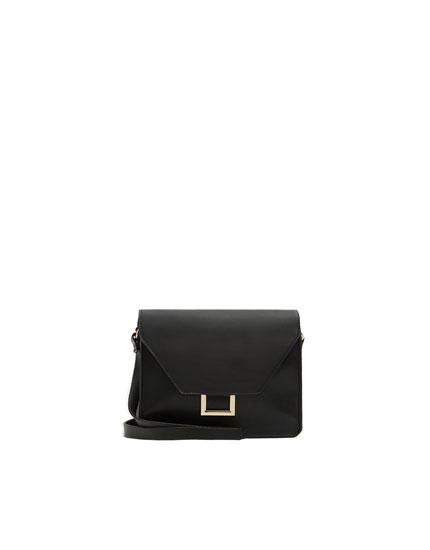 Black crossbody bag with metal detail