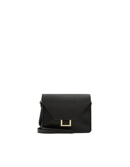 Black crossbody bag with metal detail