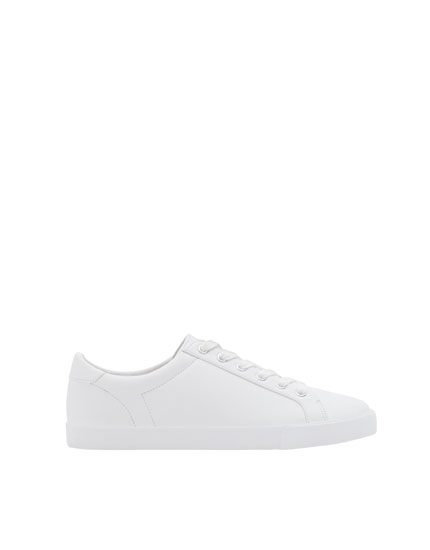 Basic white plimsolls