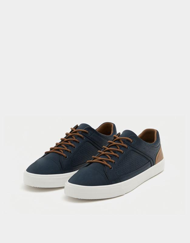 Am Baskets Chaussures Nubuck Cheveux Bleu Marine I2bwbWp