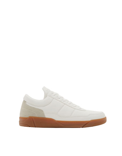 Fashion plimsolls with caramel soles