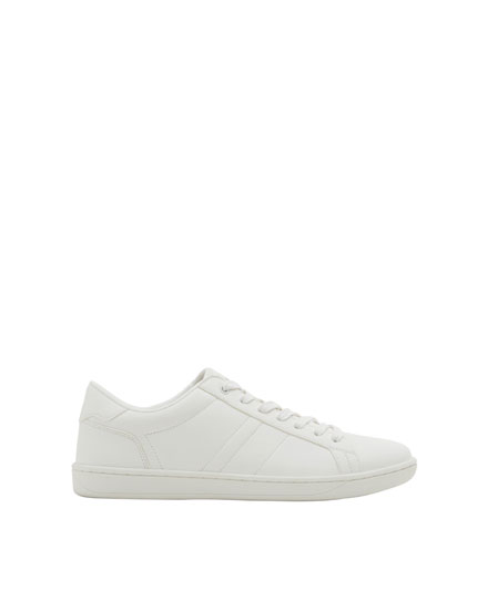 White monochrome sneakers