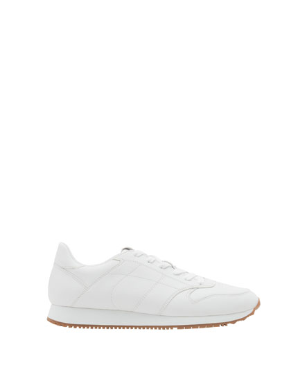 White retro sneakers