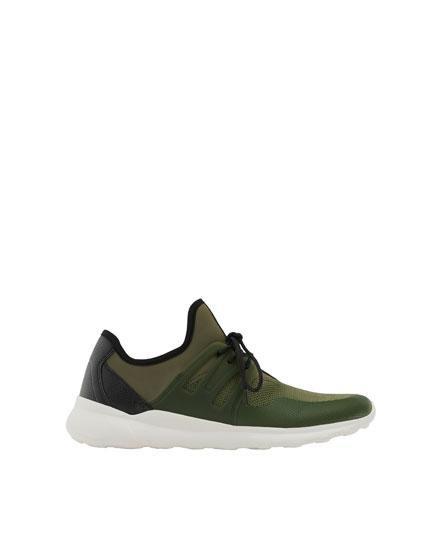 Pantofi sport stretch cu piesă laterală