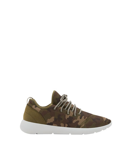 Camouflage technical sneakers