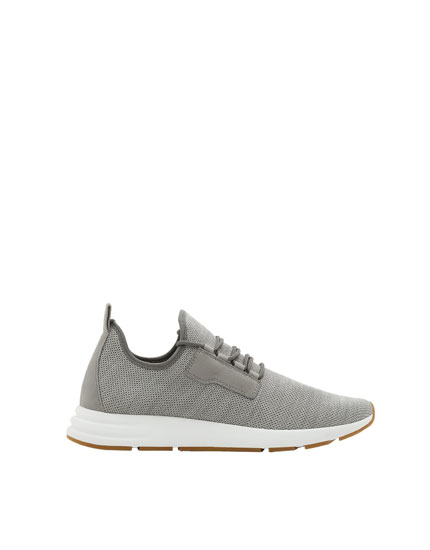 Grey mesh sock sneakers