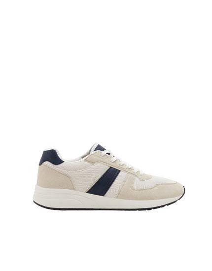 Kombinierte Sneaker mit Streifen
