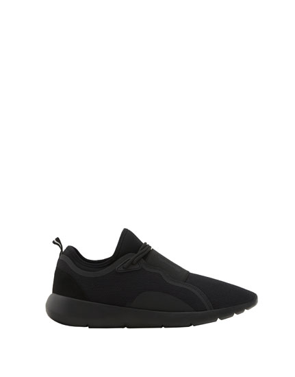 Elastische Sneaker All black