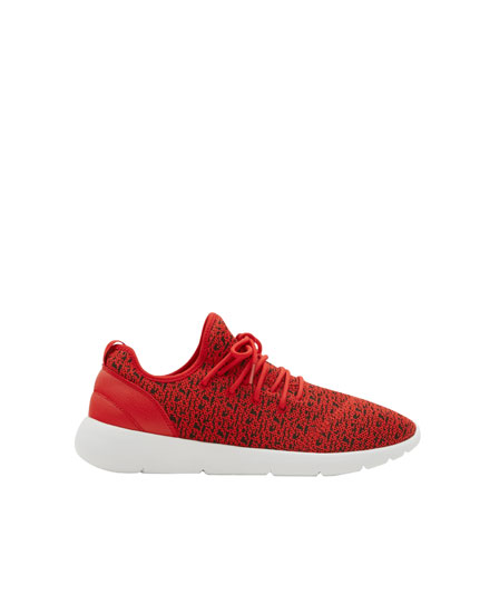 Red technical sneakers