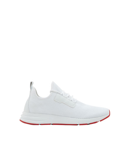 White mesh sock sneakers