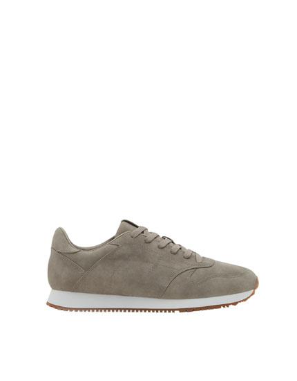 Pantofi sport retro gri