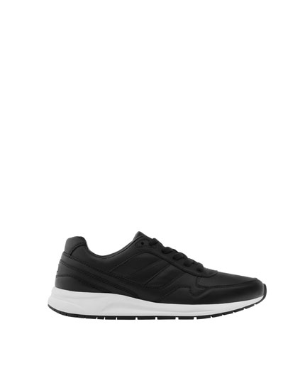 Black retro sneakers