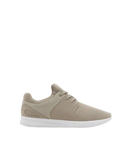Primavera pullandbear Sneakers grigio grigie rete calzino cHq60Ff