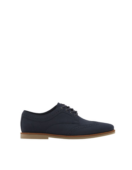 Slim blue brogues
