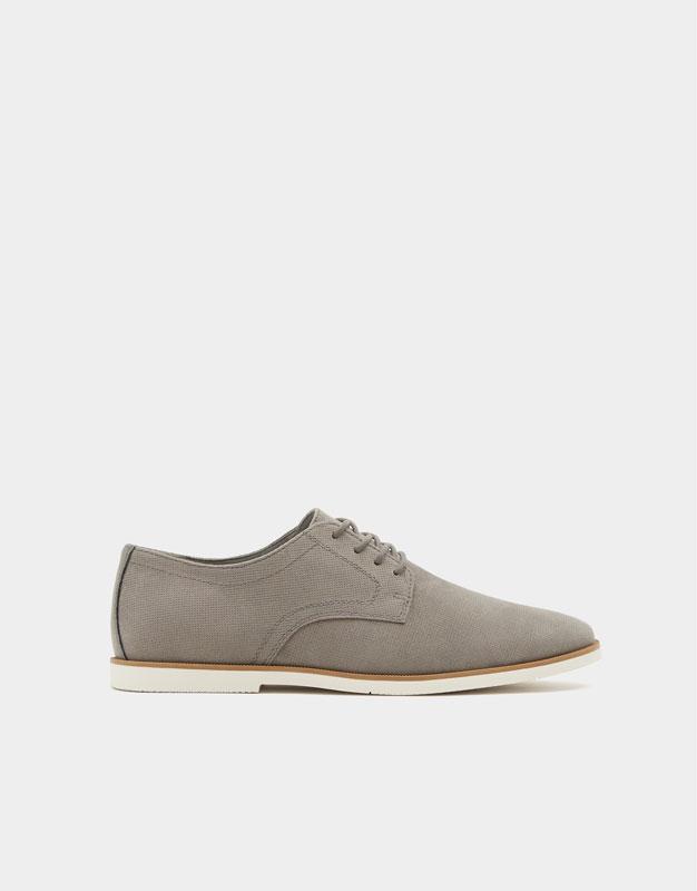 Slim embossed shoes , GREY ...