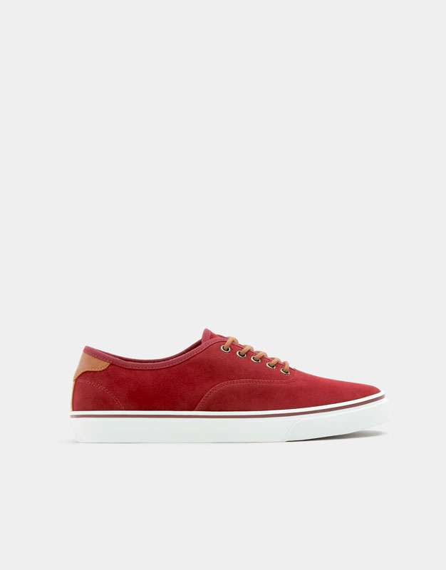 Basic maroon urban sneakers , BURGUNDY ...