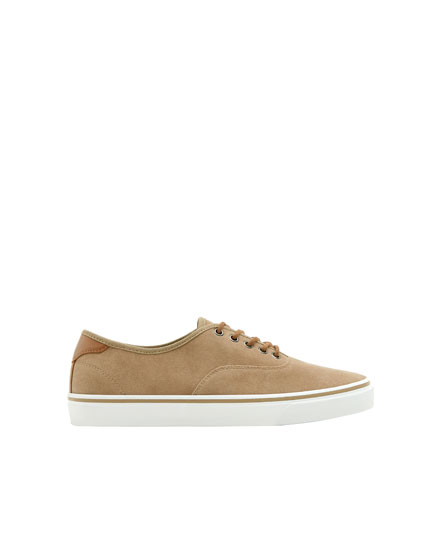 Basic sand-coloured sneakers