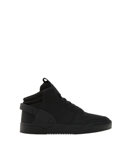 Black high-top sneakers