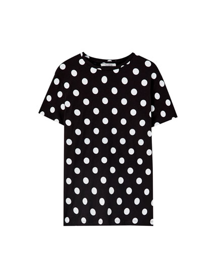 Basic T-shirt with contrast print