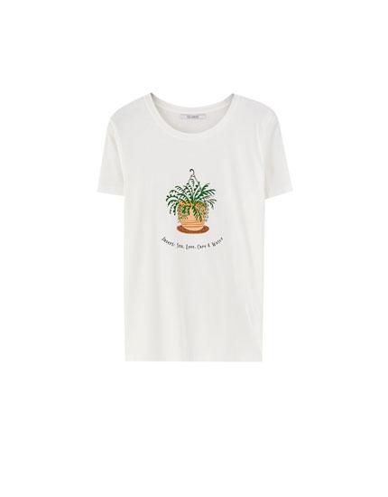 Short sleeve plant T-shirt