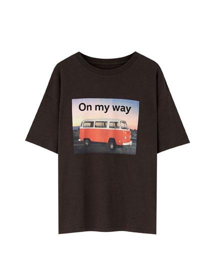 T-shirt med Volkswagen varevogn