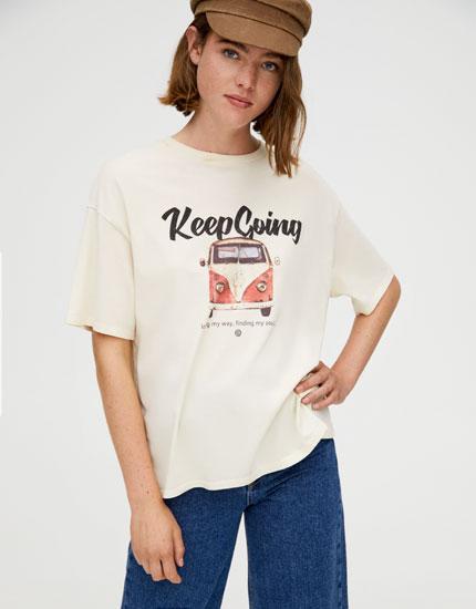 T-shirt med Volkswagen-tekst